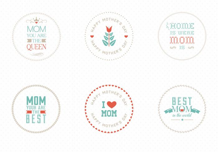 Mother's Day Badges PSD Pack