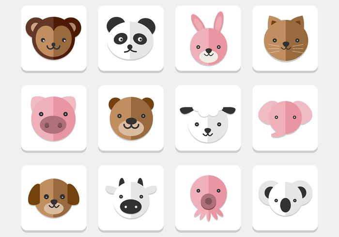 Iconos de Animales PSD Pack