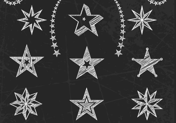 Kreide Drawn Stars PSD Set