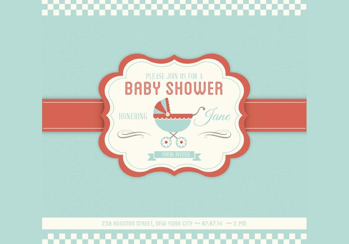 Baby Shower PSD Invitation Template
