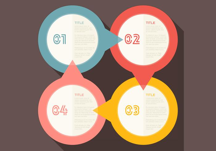 Four Steps Infographic PSD