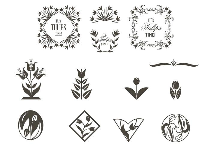 Tulip Ornaments Brushes