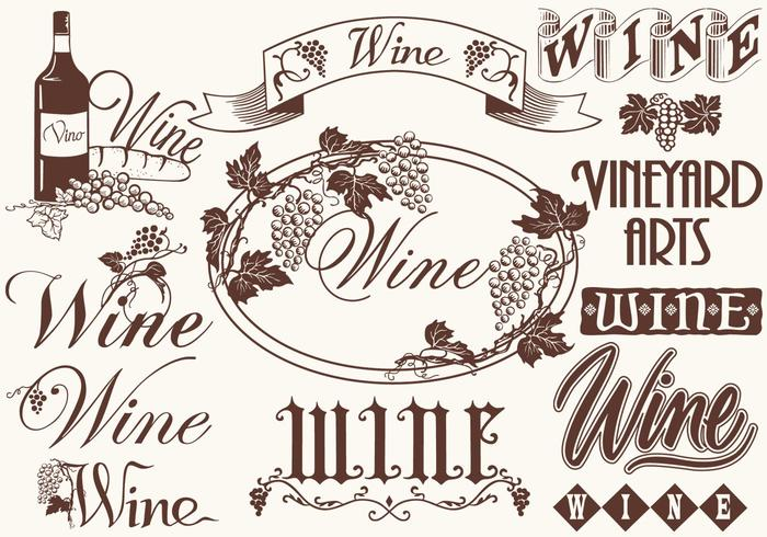 Vintage Wine Elements Cepillos