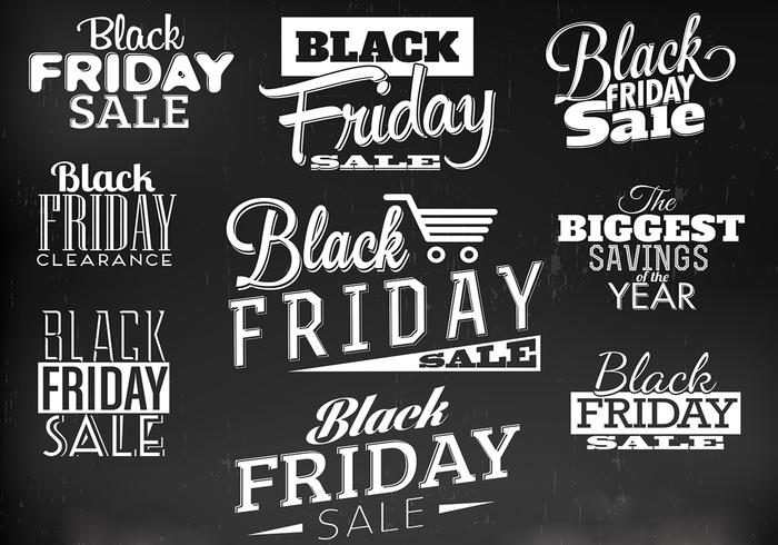 Black Friday Label PSD Pack