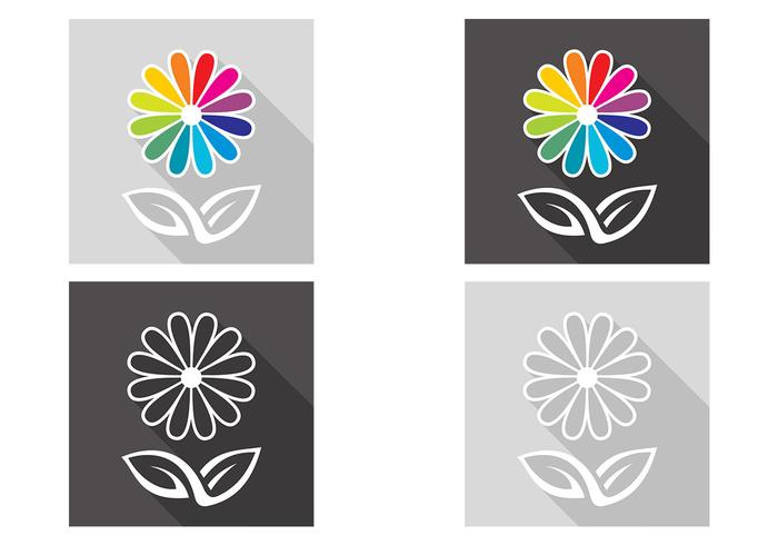 Abstract Flower PSD Set