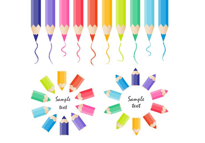 Colored Pencils PSD Collection