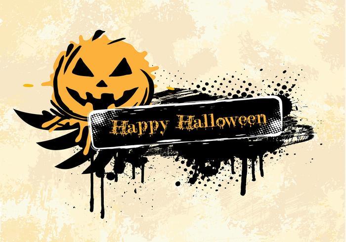 Grunge halloween achtergrond psd