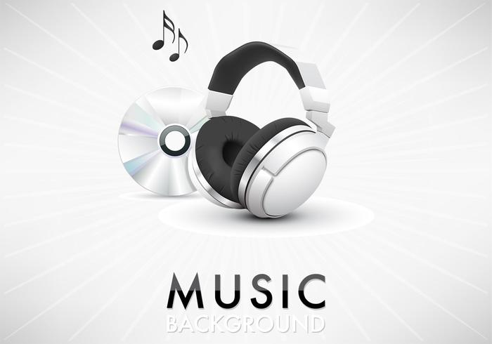 Music Headphone Background PSD