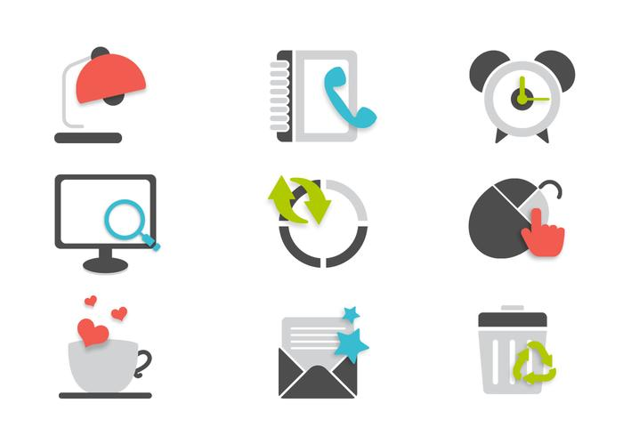 Büro Icons PSD Set