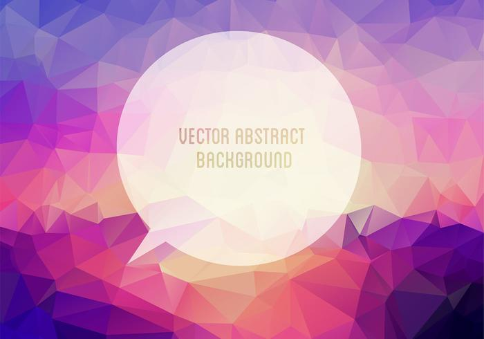 Polygonal Speech Bubble Background PSD