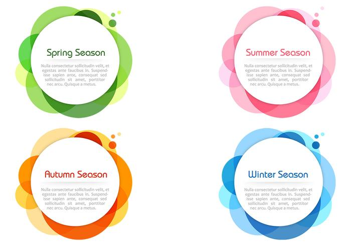 Saisonale Farben Bubble Banner PSD Set