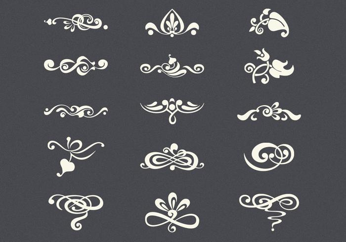 Ensemble PSD Vintage Flourishes
