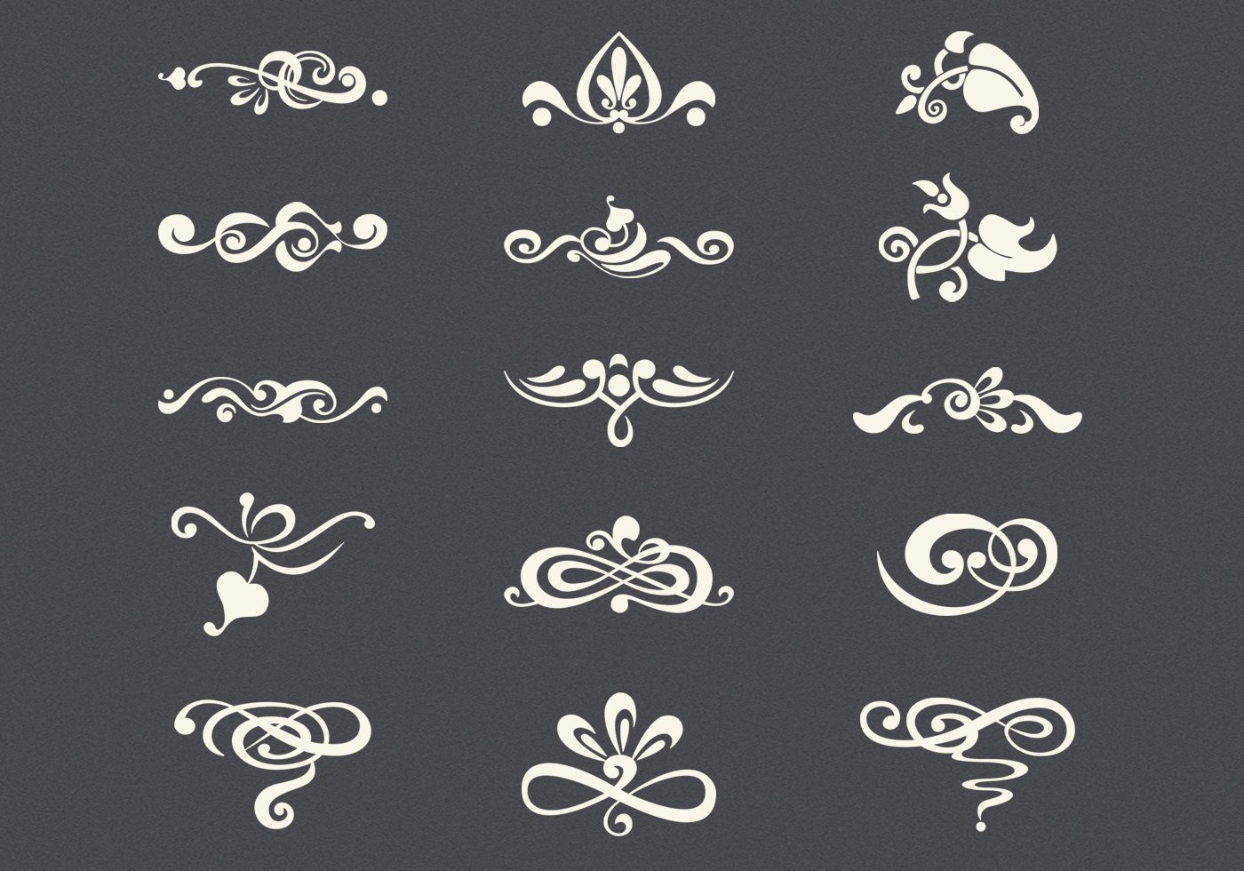 Vintage Flourishes Psd Set Free Photoshop Brushes At