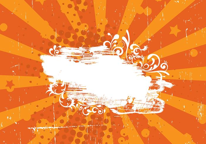 Grunge Orange Sunburst PSD Background