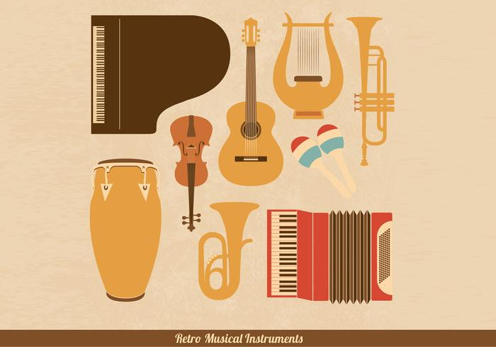 Retro musikinstrument PSD