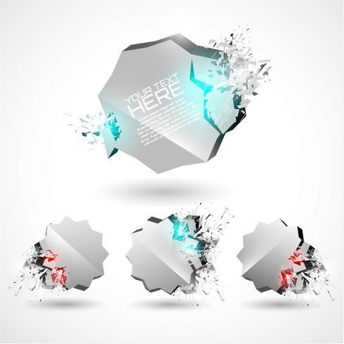 Conjunto de PSD para emblemas de explosão 3D