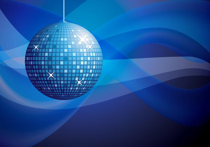 Blue Disco Ball Background PSD