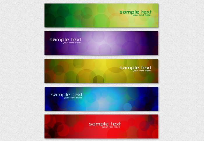 Abstrakt Circle Banner PSD Set