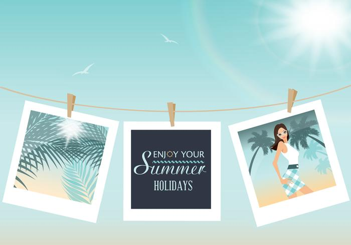 Pictures of Summer PSD Background