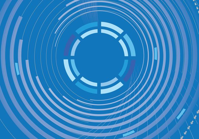 Blue Abstract Circle Background PSD