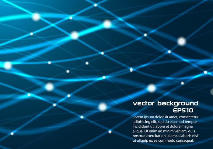 Blue Glowing Lines Background PSD
