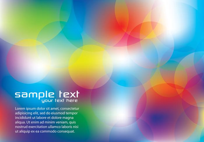 Rainbow Bokeh Background PSD