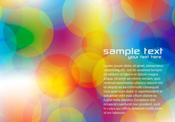 Bright Bokeh Background PSD