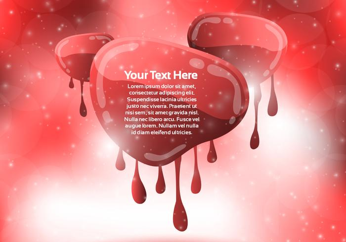 Red Dripping Banner Background PSD