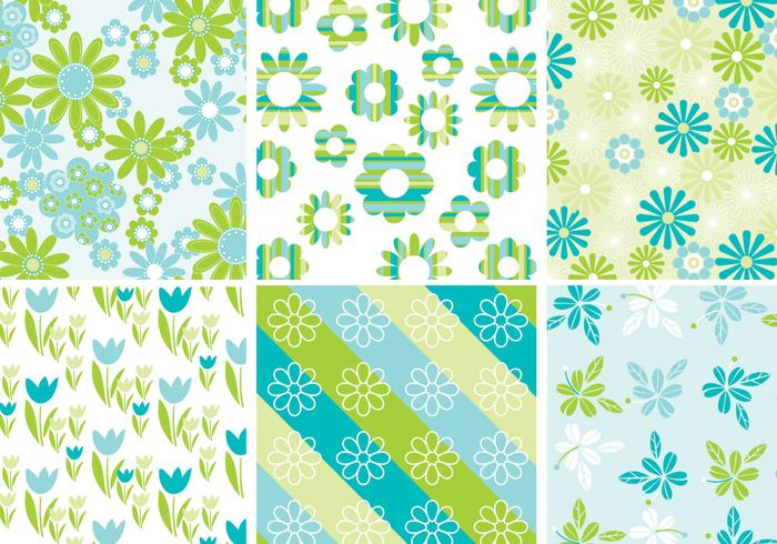 Cute Spring floral background psd pack