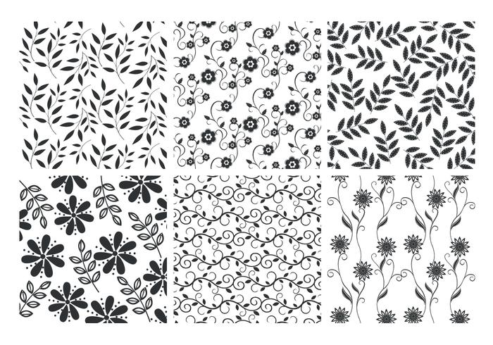 Floral Leaves Backgrounds PSD Set