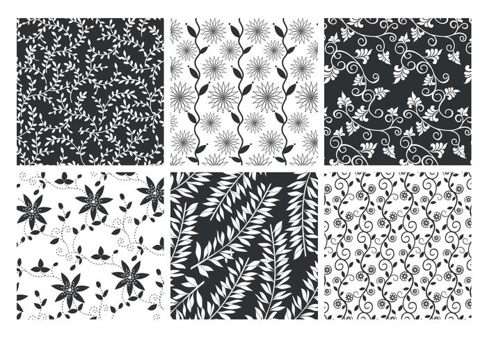 Conjunto de PSD de Floral Patterned Backgrounds