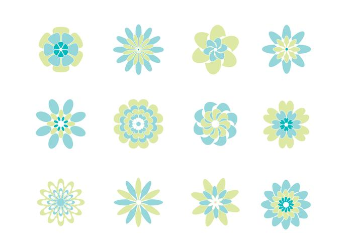 Fresh Abstract Flowers PSD Pack