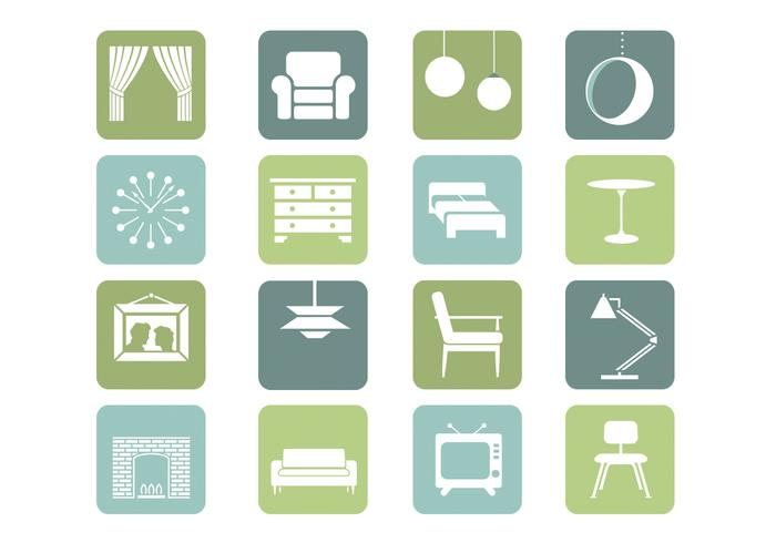 Furniture Icons PSD Collection