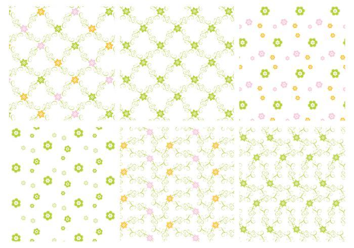 Grüne Blumenmuster