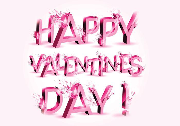 Explosión 3D Día de San Valentín PSD
