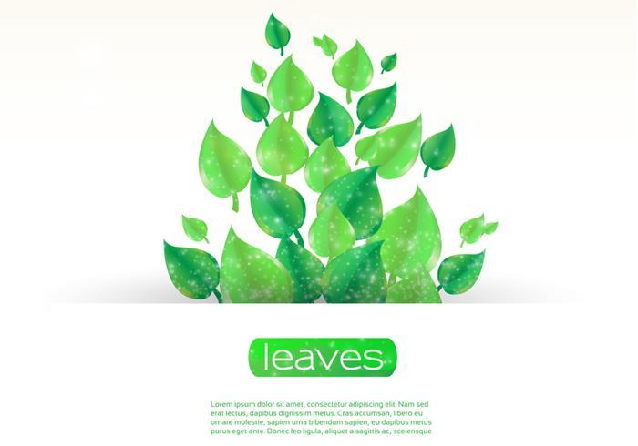 Sparkling Leaf Banner PSD
