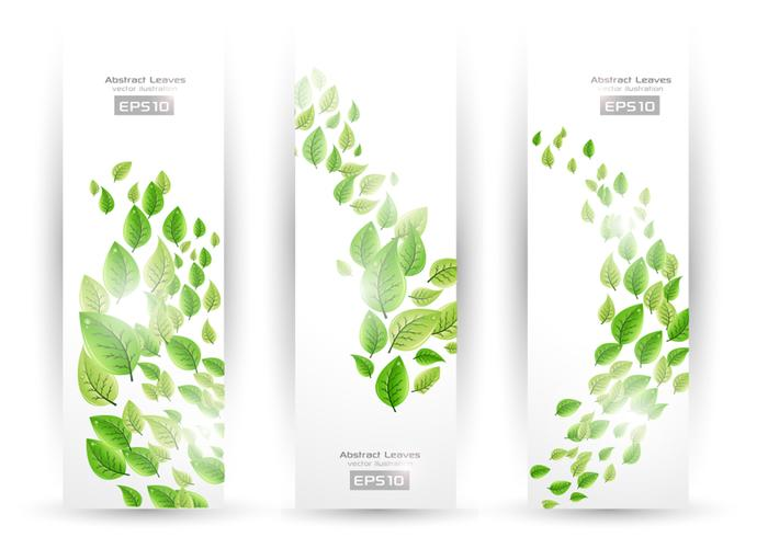 Swirling Leaf Banners PSD Pack