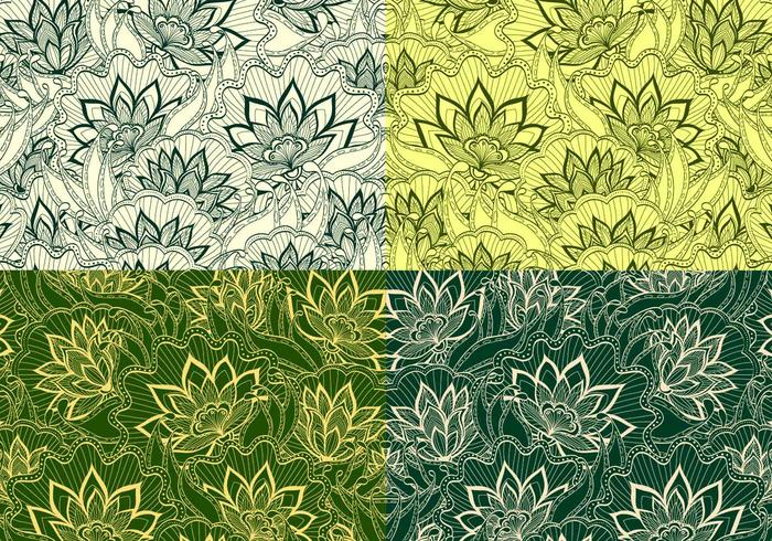 Esmeralda Vintage Floral Patterns
