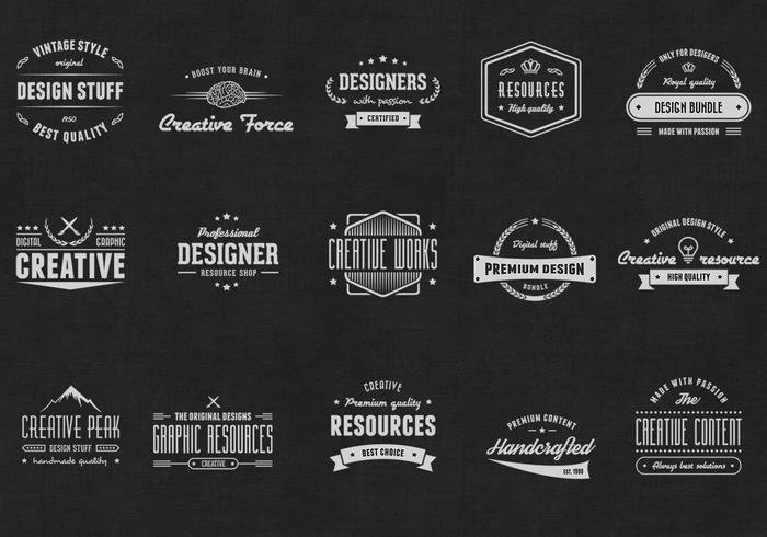 Vintage Logo PSD Badges