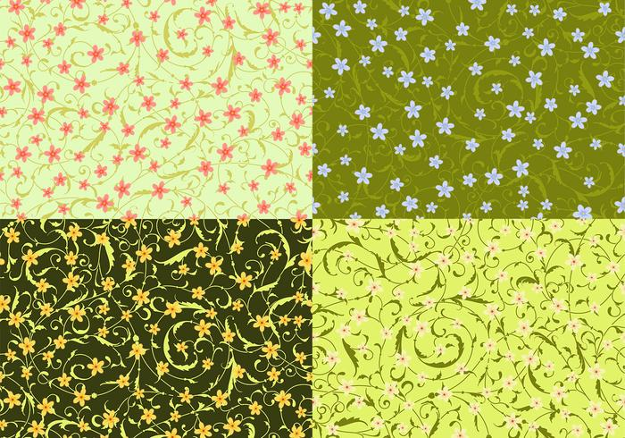 Swirly patterns floraux