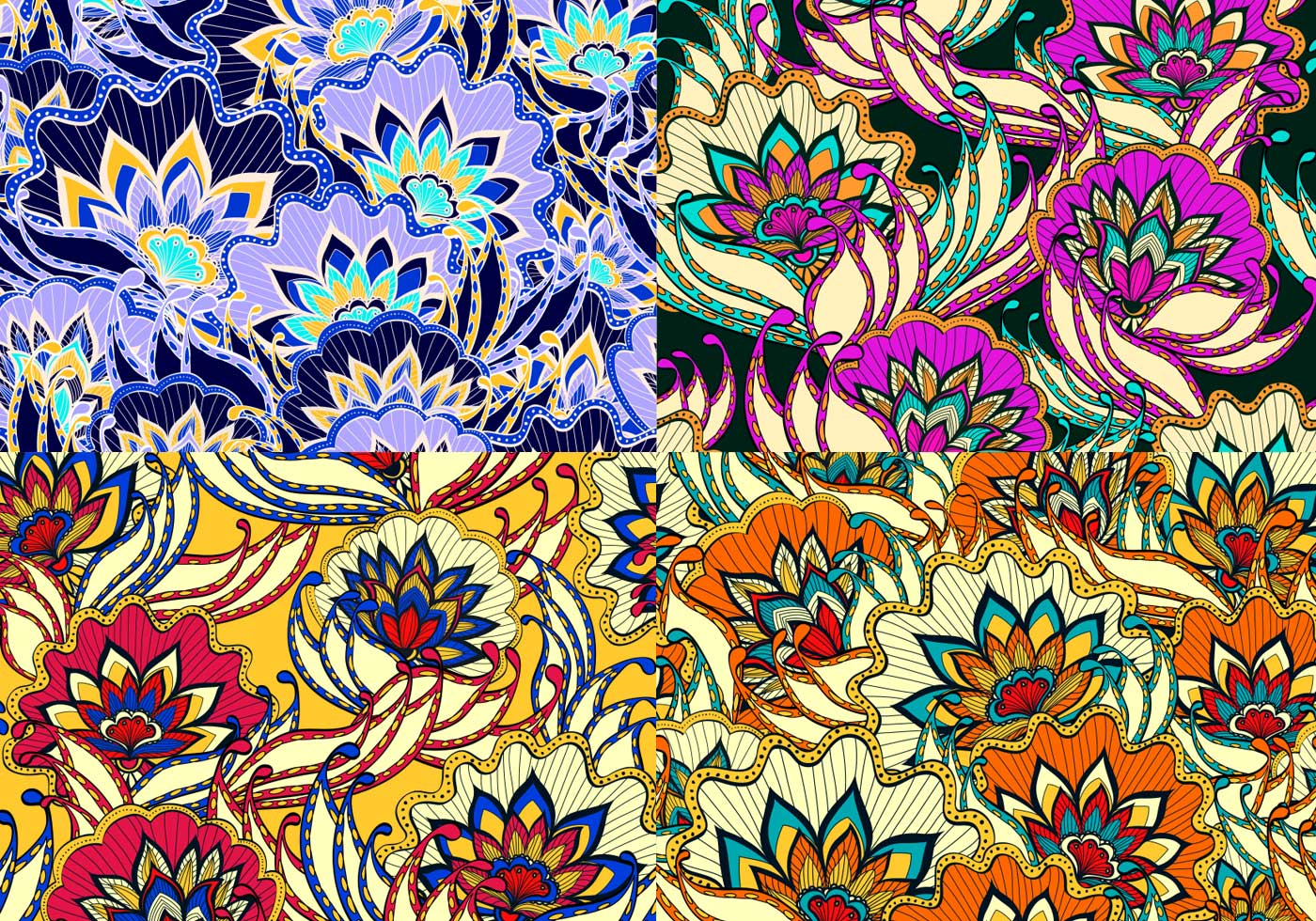 Vintage Floral Patterns - Free Photoshop Brushes at Brusheezy!