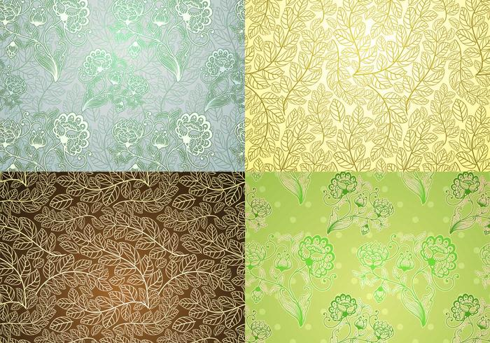 Vintage Plant Wallpaper PSD Pack