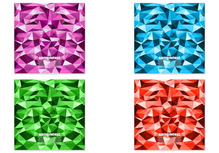 Pack PSD de fond polygonale brillant