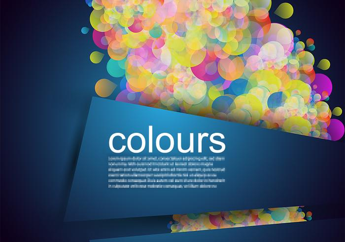 Glowing Bubble Banner Background PSD