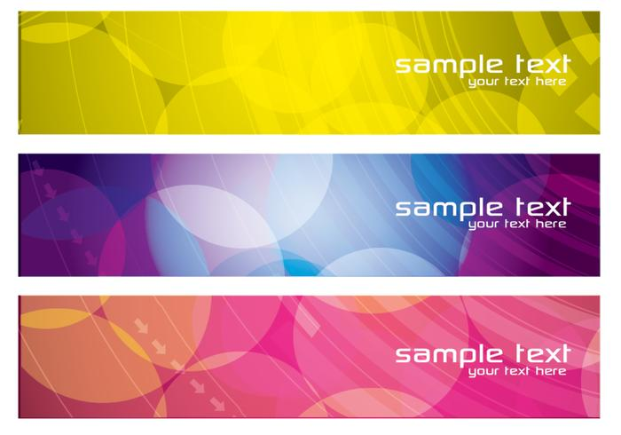 Colorful Abstract Banners Conjunto PSD