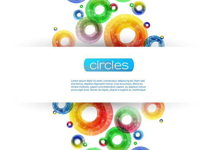 Sparkly Circle Background PSD