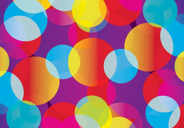 Colorful Circle Background PSD