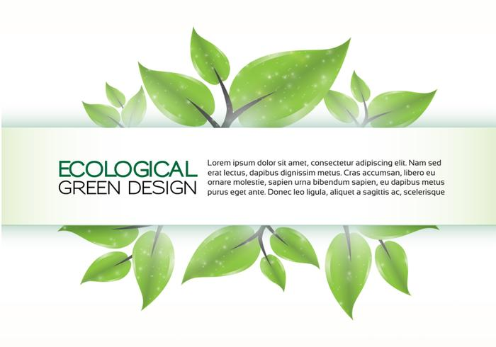Green Eco Banner Background PSD