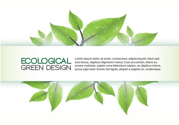 Grüner Eco Banner Hintergrund PSD