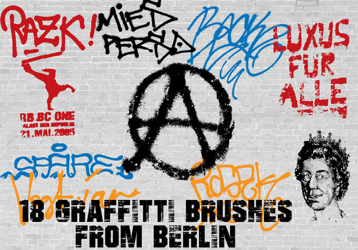 18 Graffiti Brushes from Berlin